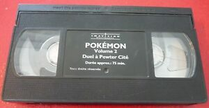 VHS-French-Movie-Pokemon-Volume-2-Duel-a-Pewter-Cite-NO-ARTWORK-COVER