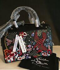 Alice + Olivia Bird Party ELOISE Bowler Handbag,NWT $945 Leather SOLD OUT!!