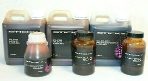 Details about STICKY BAITS LIQUID 1 LITRE & MANILLA / THE KRILL / BLOODWORM  GLUG 200ml CARP