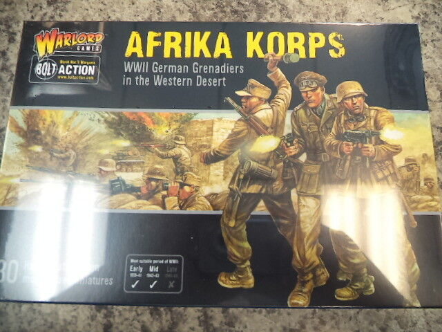 Afrika Korps Grenadiers Infantry German Army Bolt Action WWII Warlord Games New