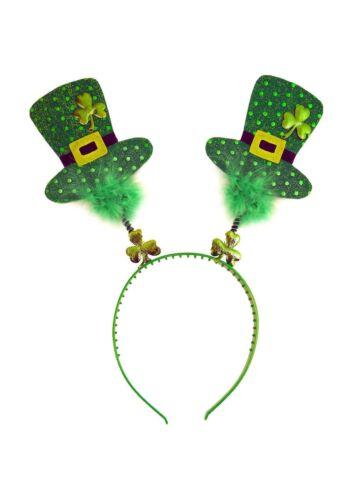St Patricks Day Wiggly Headband w// Fur and Irish Hats Ireland X20447 10//20//30