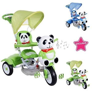 Image Is Loading Tricycle Bimbo Little Girl Children Panda With Rudder