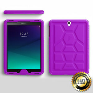 For-Samsung-Galaxy-Tab-S3-9-7-Poetic-Anti-Slip-Purple-Silicone-Cover-Case