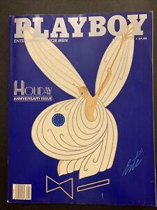 Playboy Magazine January 1987  Holiday Anniversary Issue