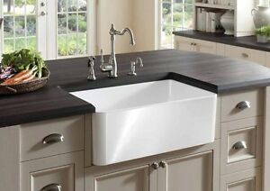 Image Is Loading FIRECLAY FARMHOUSE SINK 30 034 TOP QUALITY WHITE