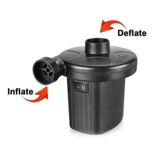 Electric Air Pump Inflator Deflate Inflatables Bed Pool Air Mattress 240V//12V UK