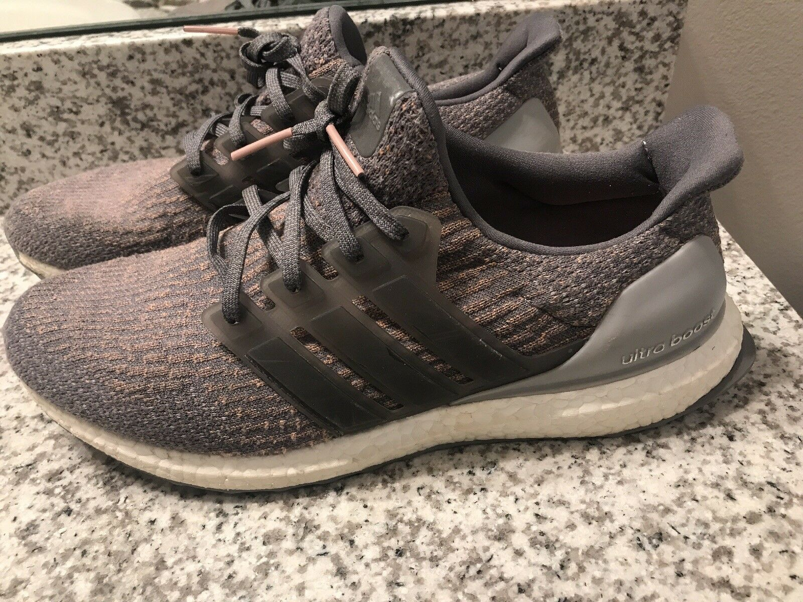 Adidas Ultra Boost 3.0 Primeknit Gray Trace Pink Mens Size Shoes Sneakers S82022