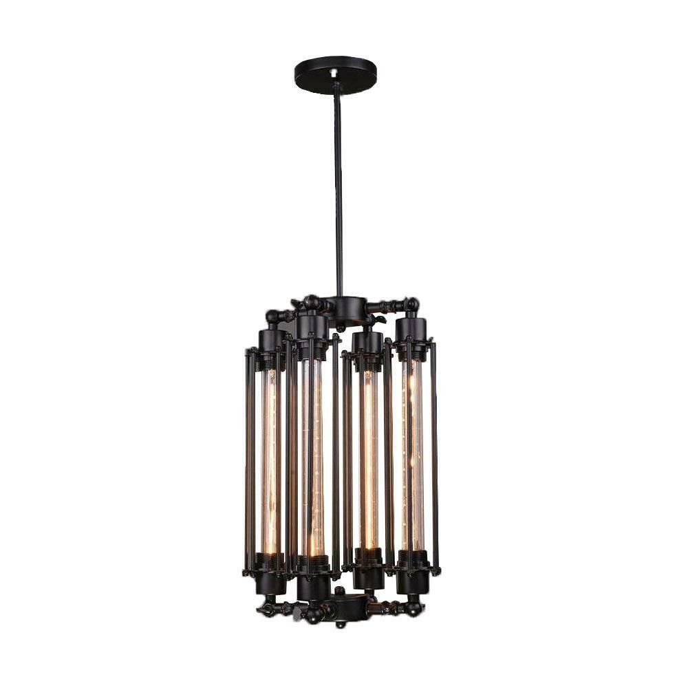 Vintage Retro Industrial Style 4 Head Hanging Pendant Loft Home Ceiling Light