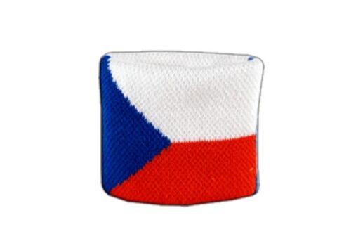 7x8cm Armband für Sport Schweißband Fahne Flagge Grün-Weiß 2er Set