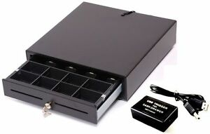STANDARD SIZE Solid Metal CASH DRAWER/TILL/DRAW 5 x Note,8 x Coin w/USB Choice