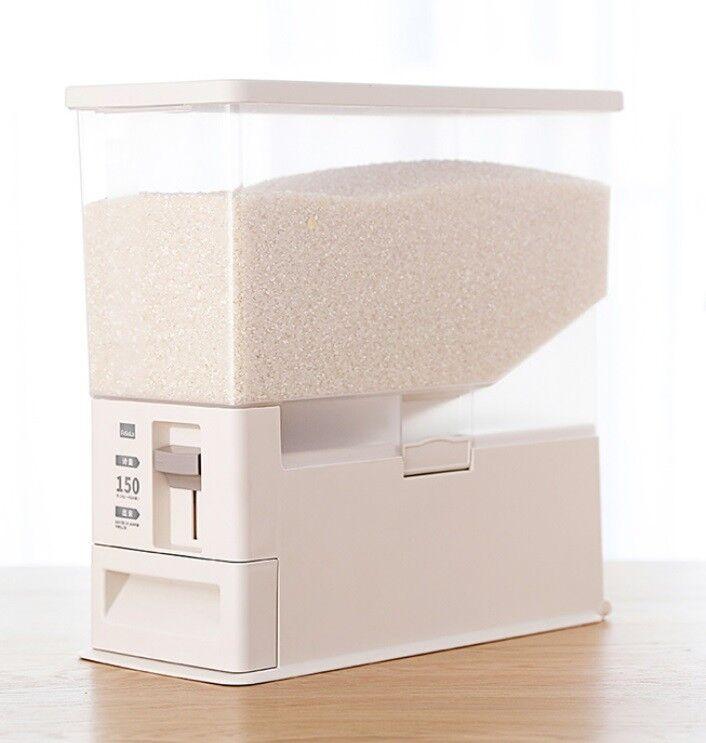D24 12KG Kitchen Rice Storage Bin Flour Cereal Beans Grain Box Container Case Q