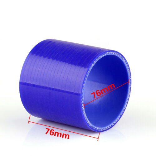 Straight 0 Degree 76mm 76mm Silicone Hose Coupler Intercooler Turbo Intake t1.