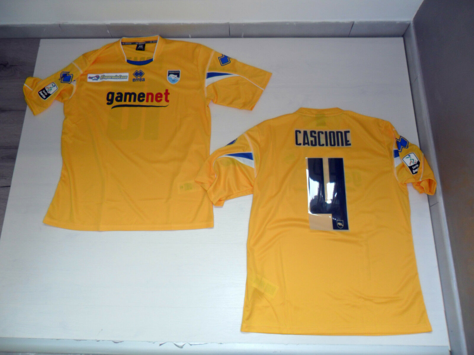 TG XL 4 CARDENAS PESCARA CAMISETA CARRERA 11 12 THIRD JERSEY SHIRT AMARILLO