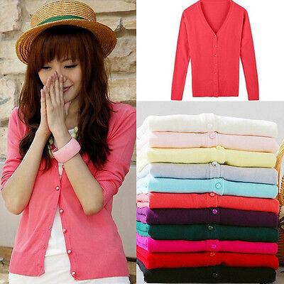 Women's Knitted Sweater Long Sleeve Knitwear Cardigan Coat Outwear Tops Blouse
