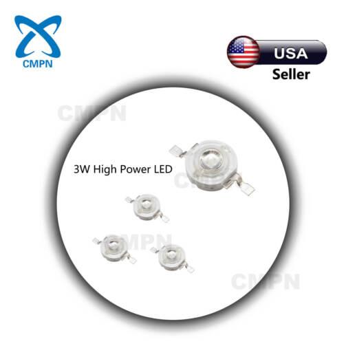 10Pcs 3W High Power SMD LED Chip Ultra Violet UV 395-400nm Beads Buld Light Lamp