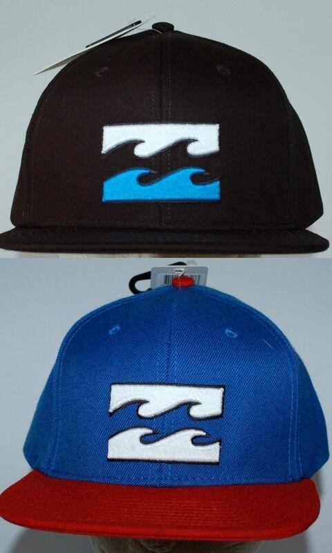 Billabong CAP Hat NEW Mens ALL DAY Snapback FLAT BRIM Size MARINE Surf Skate 1 Size BRIM 2496ea