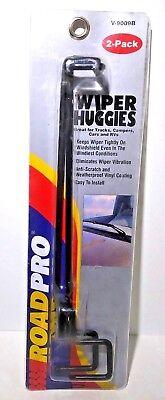 Pack of 2 RoadPro V-9009B Black Windshield Wiper Huggies,