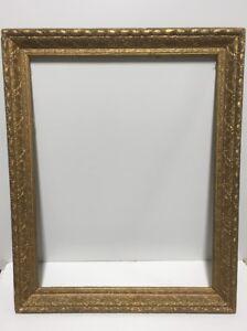 VTG-Victorian-Art-Nouvea-Gold-Gilded-Wood-Picture-Frame-Fits-21-1-2-034-x-27-1-2-034