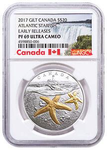 2017-Canada-Sea-Atlantic-Starfish-1-oz-Silver-Gilt-20-NGC-PF69-UC-ER-SKU49408
