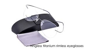 Rimless Aviator Eyeglass Frames : Rimless Eyeglasses frame Men Titanium Glasses Aviator ...