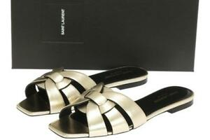 Sandals Platinum Flat Pieds Tribute Nu Laurent Ysl Slides Saint pUSVqzGM
