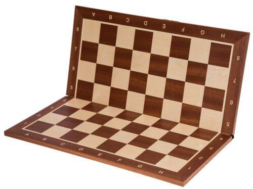 SQUARE MAHOGANY SK Pro Chess Board Field 58 mm Wooden Chessboard No 6