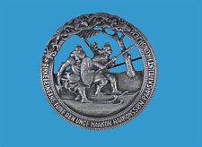 'Rettung von Hakon IV.durch die Birkebeiner' große Silberbrosche   Norwegen~1900