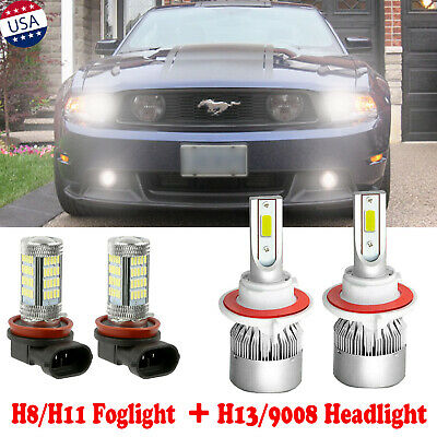 H13 9008 LED Headlight Kit Plug/&Play for 2005-2012 FORD Mustang GT High/&Low Beam