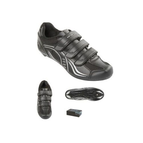 M-Wave M-Wave M-Wave Rennrad Schuhe ROAD Gr. 39 schwarz grau bequem universell SPD LOOK usw c10815