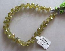 "8"" Strand Grossular Green Garnet Gemstone Faceted Onion Briolette Beads 5mm-7mm"