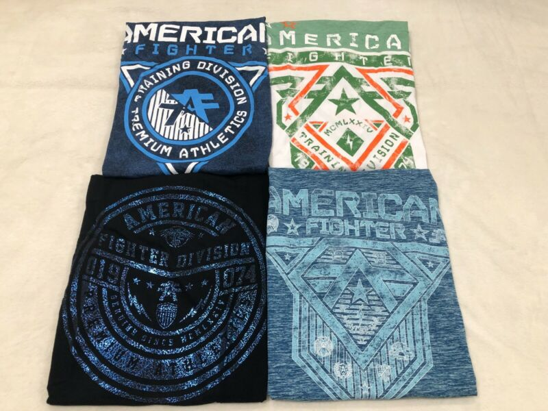 $160 Lot Of (4) American Fighter Mens T-shirts Buckle Bke X-large Xl Nwt (b)
