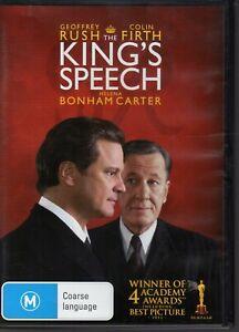 THE-KINGS-SPEECH-DVD-R4-2011-Geoffrey-Rush-Colin-Firth-LIKE-NEW