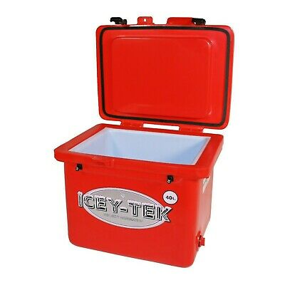 Icey-Tek 40 Litre Premium Cube Cool Box in BLACK Camping /& Commercial Ice Chest Cooler Cold up to 10 days Built For Life