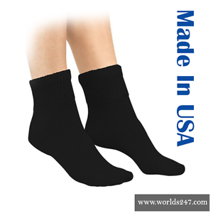 White Ankle 1//4 Socks 3 Pair Men/'s or Women/'s Size 9-11 Made In The USA!!