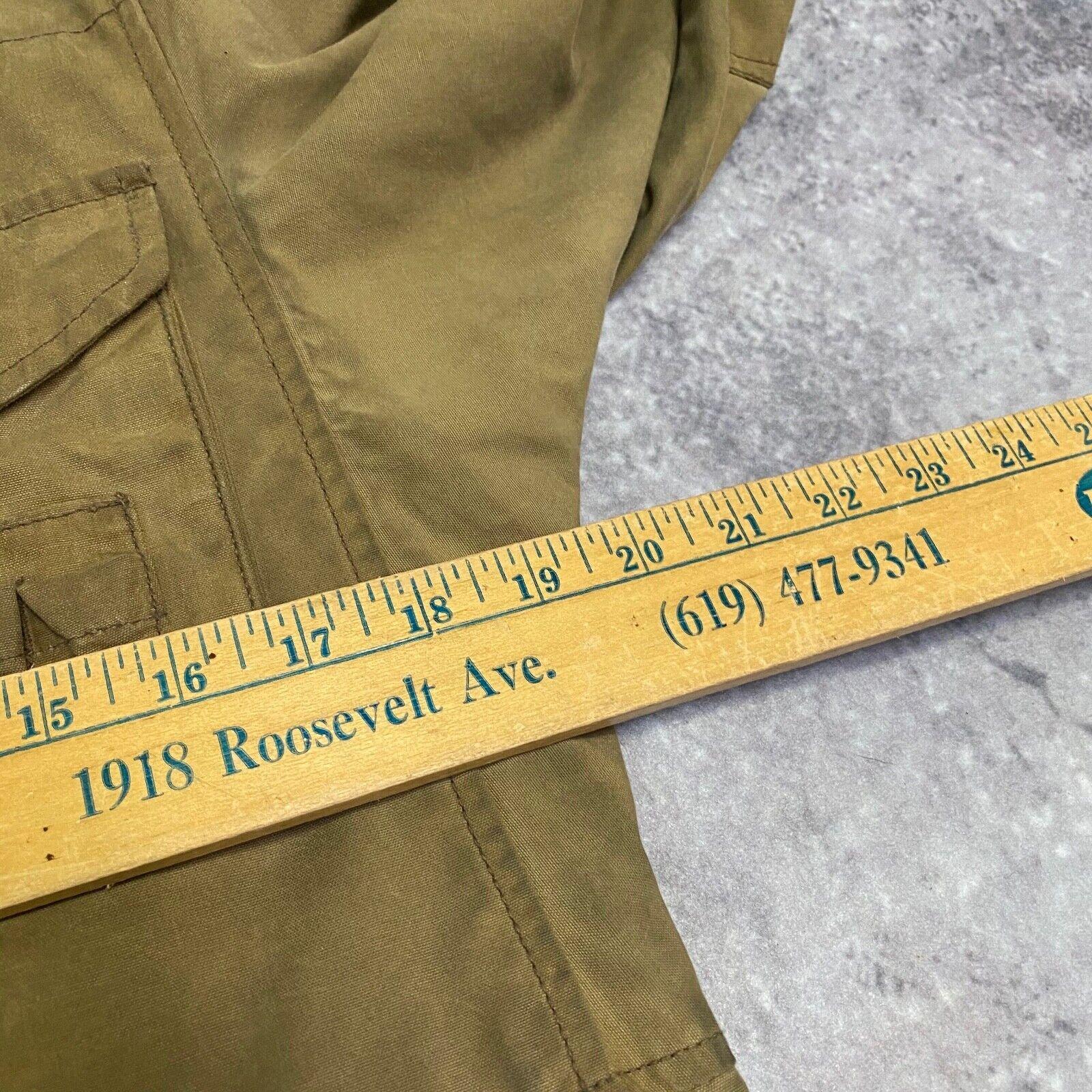 J.Crew Field Jacket Size XS Brown Wax Distressed - image 12
