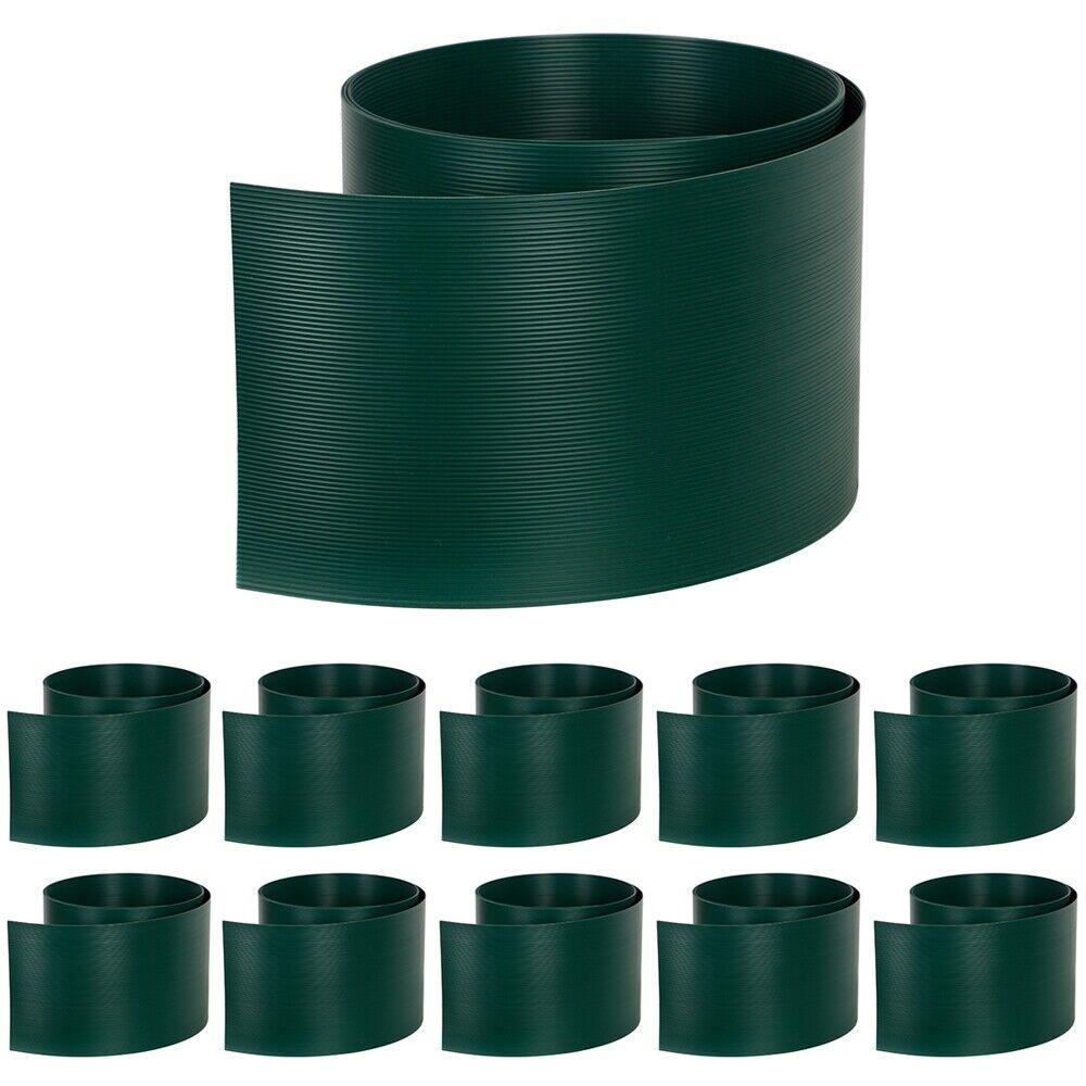 10x protezione visiva duro PVC verde SCURO DOPPIO Bastone Stuoie Recinto Antivento oscurante per recinzioni