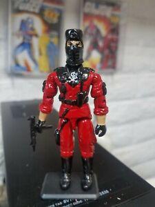 NEW G.I.JOE BLACK MAJOR CUSTOM RED SHADOWS BLACK SKELETRON B.A.T.