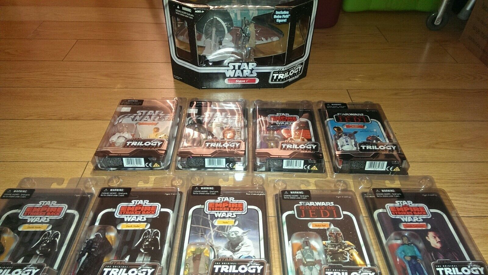 Trilogía de la guerra de las Galaxias original colección esclavo 1 Otc Con Figuras Boba Fett x9