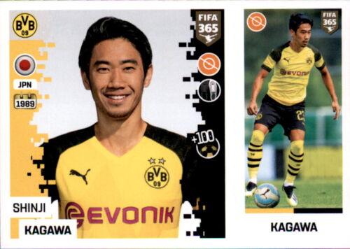 Borussia Dortmund Panini FIFA365 2019 Shinji Kagawa Sticker 186 a//b