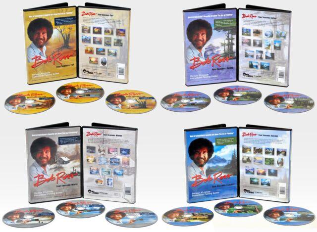 BOB ROSS,12 DVD SET Teaches 52 PAINTINGS, SPRING, WINTER, SUMMER, FALL, SEASONS
