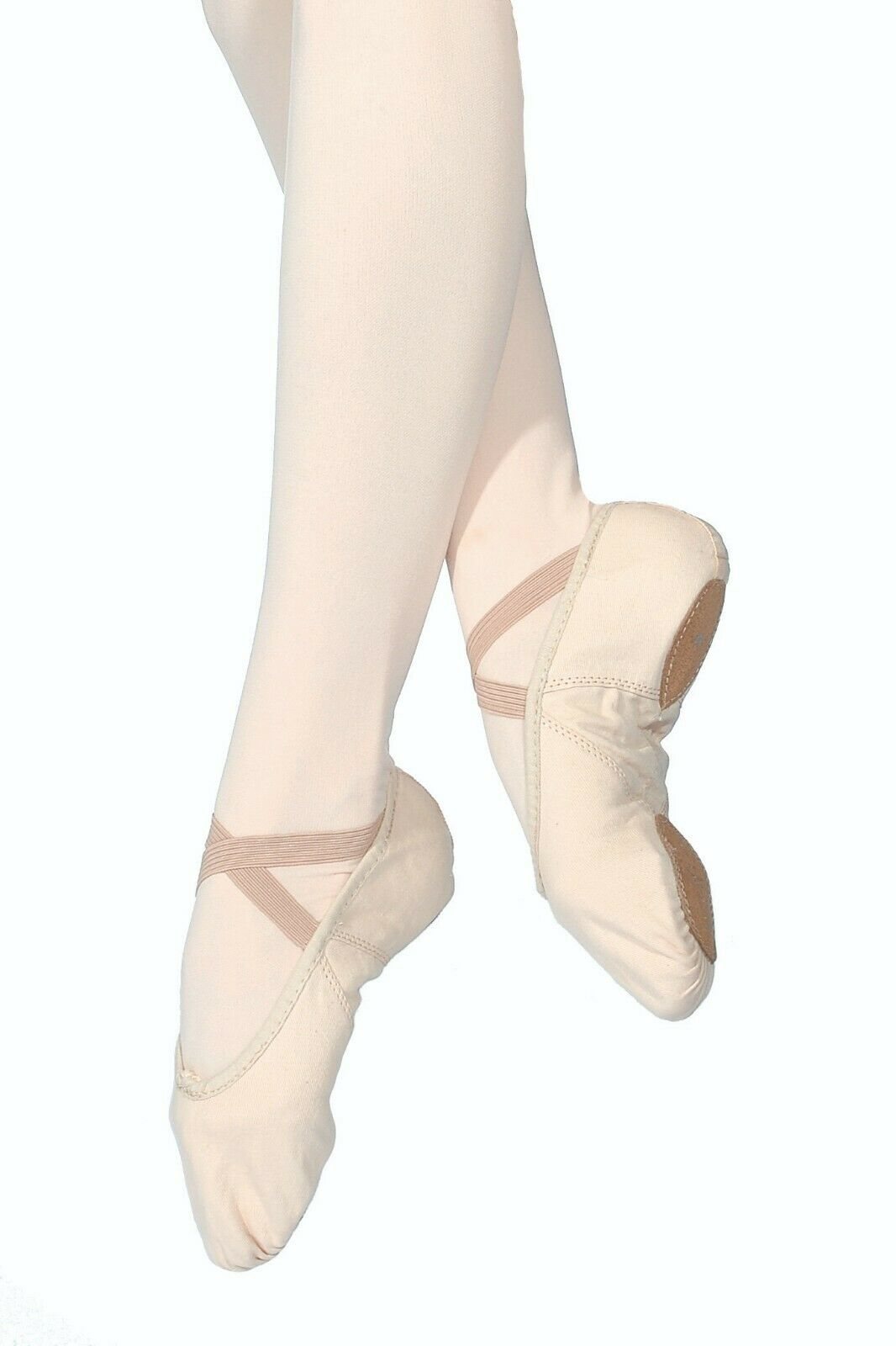 Canvas premium ballet shoes pink by Roch Valley canvas upper, leather sole. 9c-8