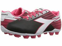 Diadora Ladro Md Jr Soccer Cleats Black / White / Pink Toddler Kids Youth Sizes