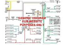 1958 58 Ford Cars Full Color Laminated Wiring Diagram 11