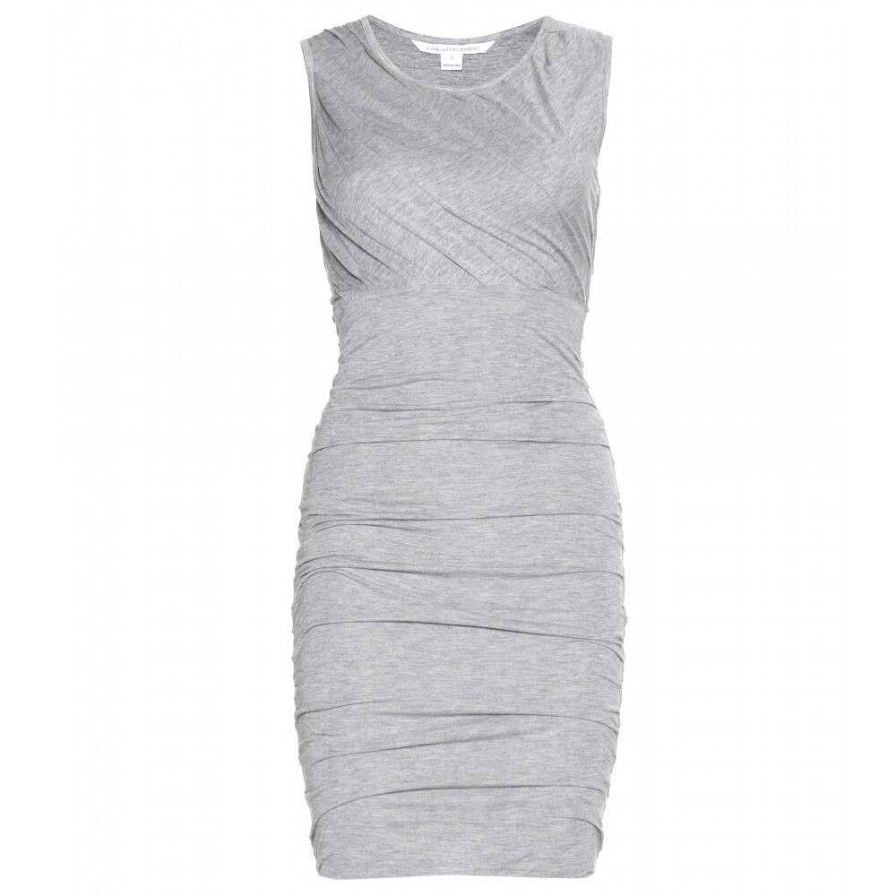 Diane Von Furstenberg  225 ANGELINA Ruched Jersey Dress Grey Grey Grey Melange NWT M fc674b