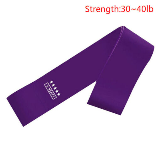 1 Pcs Elastic Resistance Loop Bands Gym Yoga Exercise Fitness Workout Stre YLW