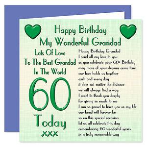 Image Is Loading My Grandad Happy Birthday Card Age 60 100