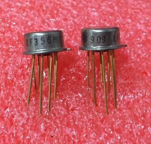 2 New 741 OpAmp TO99 Metal Can Various Manufacturers uA741HC LM741CH RC741 SG741
