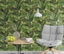 Molto insolito, foglia di banano/Jungle Design, Incollare Il Muro Carta da parati in vinile, solido