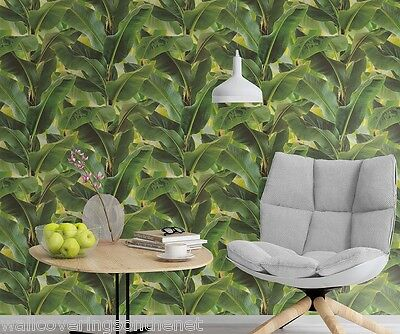 Very unusual, Banana Leaf / Jungle Design, Paste the Wall, Solid Vinyl Wallpaper