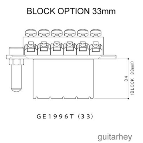 GOLD Gotoh Ge1996t Floyd Rose Tremolo Bridge for Guitar BRAND NEW